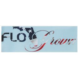 FloGrown American Flag Script Decal