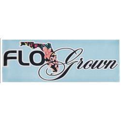 FloGrown Tropical Floral Script Decal