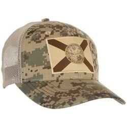 FloGrown Mens Camo Flag Trucker Hat