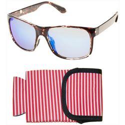 Panama Jack Mens Polarized Tortoise Brown Sunglasses