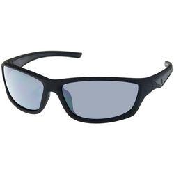 Dockers Mens Polarized Plastic Wrap Sunglasses