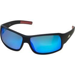 Dockers Mens Polarized Rectangle Wrap Sunglasses