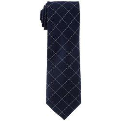 Tommy Hilfiger Mens Grenadine Grid Print Tie