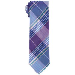 Tommy Hilfiger Mens Large Plaid Print Tie