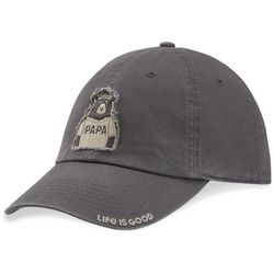 04823edd9623a7 Life Is Good Mens Papa Bear Tattered Chill Hat