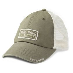 Life Is Good Mens Work Hard Stay Humble Soft Mesh Hat