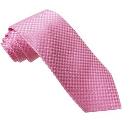 Rooster Mens Diamond Jacquard Tie