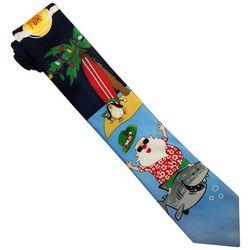 Hallmark Mens Santa & Shark Tie