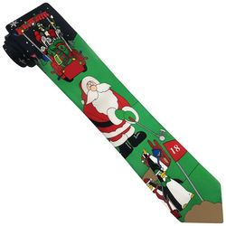 Hallmark Mens Santa & Penguin Golf Tie