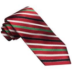 Hallmark Mens Candy Cane Stripe Tie