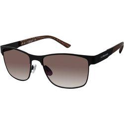US Polo Assn. Mens Logo Plastic Rectangle Sunglasses