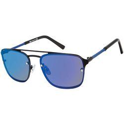 Southpole Mens Metal Frame Rectangle Sunglasses