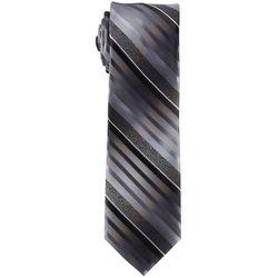 Van Heusen Mens Textured Stripe Print Tie