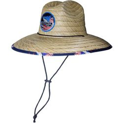 Hook and Tackle Mens Lifeguard Sails Stripe Straw Hat