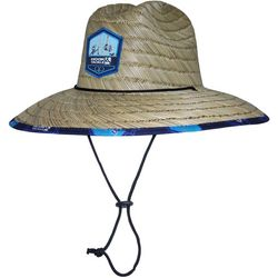 Hook and Tackle Mens Lifeguard Rods Up Straw Hat