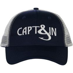 Hook and Tackle Mens Sea Captain Fishing Trucker Hat