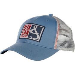 Hook and Tackle Mens Beer Can Island Fishing Trucker Hat