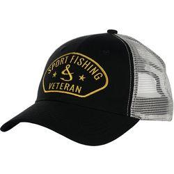 Hook and Tackle Mens Sport Fishing Veteran Trucker Hat