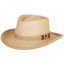Scala Mens Raffia Gambler Jute Hat