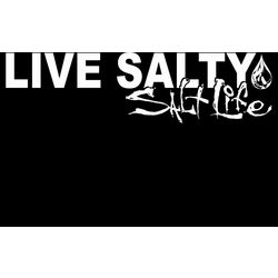 Salt Life White Live Salty Decal