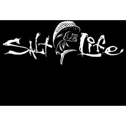 Salt Life White Signature Mahi Decal