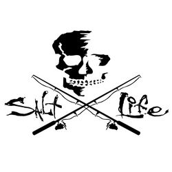 Salt Life Skull & Poles Decal