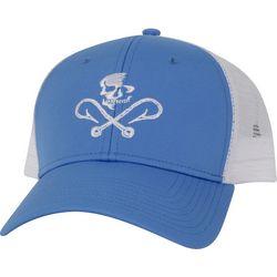 Salt Life Mens Skull & Hooks Mesh Hat