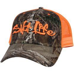 Salt Life Mens Orange Camo Incognito Hat