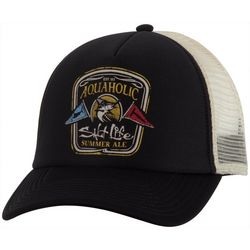 Salt Life Mens Aquaholic Mesh Trucker Hat