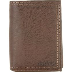 Levi's Mens Trifold Zipper Wallet
