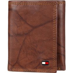 Tommy Hilfiger Mens Huck RFID Leather Tri-Fold Wallet