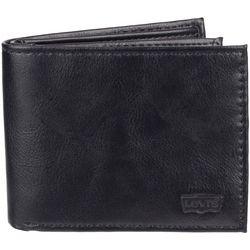 Levi's Mens Extra Capacity Black Slimfold Wallet