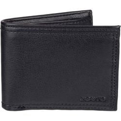 Levi's Mens RFID-Blocking Black Traveler Wallet
