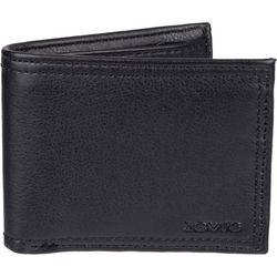Levi's Mens RFID-Blocking Black Traveler Wallet