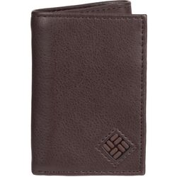 Columbia Mens Brown Trifold Leather Wallet