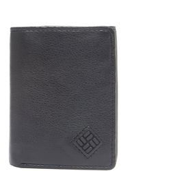 Columbia Mens Leather Trifold Closure RFID-Blocking Wallet