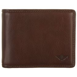 Dockers Mens RFID-Blocking Leather Passcase Wallet