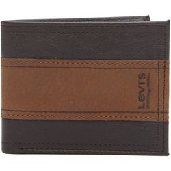 Levi's Mens Two-Tone RFID-Blocking Traveler Wallet