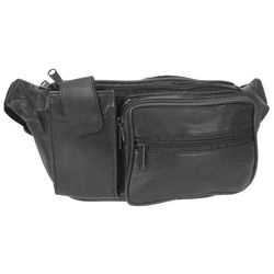 Stone Mountain Mens Leather Belt Bag with Cell Phone Holder