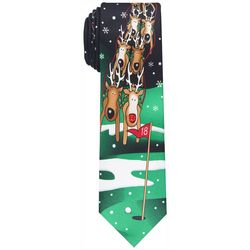 Knotty & Nice Mens Golf Reindeer Tie