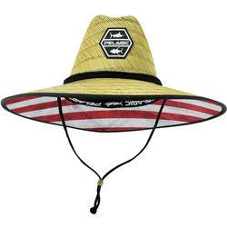 PELAGIC Mens Baja Americamo Straw Hat