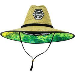PELAGIC Mens Baja Dorado Hex Straw Hat