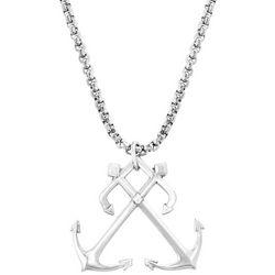 Vantage Mens Double Anchor Necklace