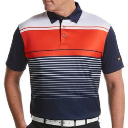 Jack Nicklaus Mens Solid & Stripe Golf Polo Shirt
