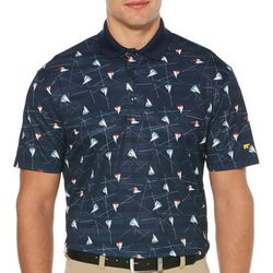 Jack Nicklaus Mens Sailboat Print Golf Polo Shirt