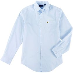 Jack Nicklaus Mens Grid Print Woven Long Sleeve Shirt