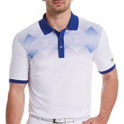 Jack Nicklaus Mens Diamond Dot Fade Golf Polo