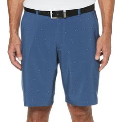 Jack Nicklaus Mens Square Print Flat Front Golf