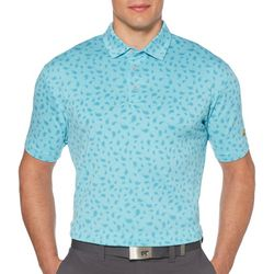 Jack Nicklaus Mens Paisley Print Polo Shirt
