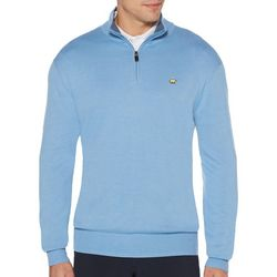 Jack Nicklaus Mens Heathered Zipper Placket Sweater